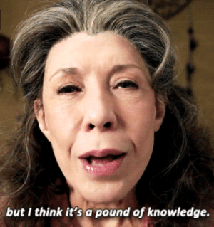 pound: but I think it's a pound of knowledge.