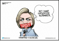 BUT I WANT  toPOLITICIZE  this  TRAOEDY.  COMMON  DE  Ramireztoons  IMAGINING6 A SILENCER  michaelpramirez.com I don't think common decency is in her vocabulary.  -Chad