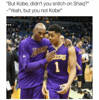 "Levels to this shit 😂😂 TagAFriend FollowMeForFunnyPostDaily: ""But Kobe, didn't you snitch on Shaq?""  -""Yeah, but you not Kobe"" Levels to this shit 😂😂 TagAFriend FollowMeForFunnyPostDaily"