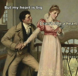 Funny, Savage, and Heart: But my heart is big  cari  t ride a heart Savage via /r/funny https://ift.tt/2xhtsbD