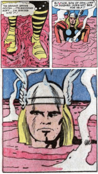 Life, Tumblr, and Avengers: BUT THOR, SON OF ODIN,LORD  OF ASGARD.DONOT BEG  THE GROUND GROWS  MOLTEN...ITS BECOMING  SOFT I'M SINKING  FOR HELP.!  INTO IT starkexpos:  withironhands:  Avengers (1963) #5  I have never laughed at a single panel so hard in my life.