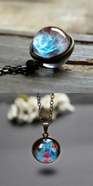 Beautiful, Cute, and Family: but-whatiff:  cute-aesthetics-things:  A truly Unique and Beautiful Galaxy in a Necklace. A Lovely and Great Gift For your Friends and Family! USE CODE: GALAXY = GET YOURS HERE =  I bought one and gave it to my sis. She loved it!