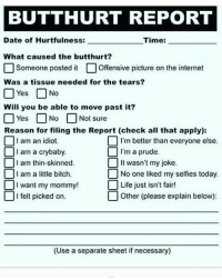 photograph about Butthurt Report Form Printable called 25+ Perfect Destruction Inner thoughts Post Memes Problems Belief Article