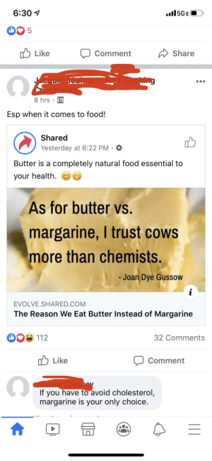 Butter may be better but the logic is absurd...: Butter may be better but the logic is absurd...