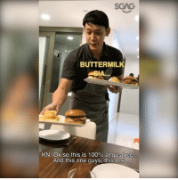 Anaconda, Beef, and Beef: BUTTERMILK  SIA...  KN: Ok so this is 100% angus beef  And this one guys, this one HAHAHA joke sia!! Xiao Ming and Sue-Ann try out Kenny's homemade cooking only to find out….. 😂😂 sp