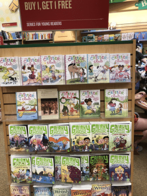 """Nothing wrong here... move along.: BUY 1,GET I FREE  B  SERIES FOR YOUNG READERS  GRAPHIC NOVELS  WIS  Ceitter    Critter ceitter  lub  the  the  5  the  CRITTER CRItter CRitter  club  the  6  CRITTER  lub  $1  the  2  the  club  lub  lw's  Exlie's  Lovely  Idea  Liz  Learns a  Lesson  Marion  Takes a  Break  Amy  Missing  Puppy  Amy Moots  Stapsister  the  A11  About  Ellie  MATH  mustratod try Msha Riti  byCallie Barkleyaustrated by Marsha Riti  by Callie Barkley  by Callle erkleyitustrated hy MATsha Riti  Cellte Barkley mr Mrtha R  Riti  ustarated by Mars  Rtds sr  THE COMMUNIST  the  CRitteR  lub  the  CRTtteR  lub  the  10  the  CRITTER  lub  9  MANIFESTO and OTHER WRITINGS  CRitteR  lub  7  Karl Marx and Friedrich Engels  Marion  Ellie the  Good-Luck  Pig  Amy's  Very Merry  Christmas  Takes  Liz a  Chargo  Marigold  Lake  by Callie Barkley*austrated by Marsha Riti  4T  trded Marshe Riti  by CA  by Callte Barkley  atrated by MaTha Ritt  utroductn and Notes by Martie Paclner  &ho  ed by larsha Rit  Colse Burkley  ACK  ZACK  JOURNEY  TO JUNO  ZACK  THREE'S A CROWD!  ZACK  ACK  A GREEN CHRISTMAS!  HELLO  THREE'S A CROWD!  THE PREHISTORIC PLANE  INOTngEN  #1  7AD  ACK  A HAUNTED HALLOWEEN  CK  ZALK  ZACK  OPERATION TWIN TROUBLE  ZACK  ZAC  E ANNOYI  DRA  DRAKE MAKES A SPLAS  EARTH!  A GALACTIC EASTER!  MONSTERS  IN SPACE!  #11  10  """"12  The Kingdom  The Kingdom  of  Wrenly Wrénly WrenlyWrenly  WrenlyWrenly  The Kingdom  Thd Kingdom  The Kingdom  The Kingdom  5  The Lost Stone  Adventures in Flatfrost  The Scorlet Drogon  Sea Monster! Nothing wrong here... move along."""