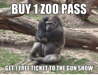 Google image search sure knows how to bubble up topical results for gorilla memes: BUY 1 ZOO  PASS  GETS FREE TICKETTO THE GUNSHOW Google image search sure knows how to bubble up topical results for gorilla memes
