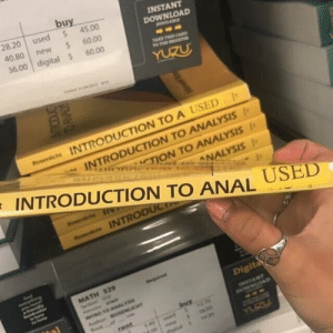 "Lol, Anal, and Download: buy  28.20 used 45.00  40.80 new  36.00 digital $ 60.00  INSTANT  DOWNLOAD  60.00  INTRODUCTION TO A USED  nrhui,""TON TO ANALYSIS 1  INTRODUCTION TO ANAL  INTRODUCTION TO ANALYSIS  INTROD  Digit unfortunate sticker placement lol"