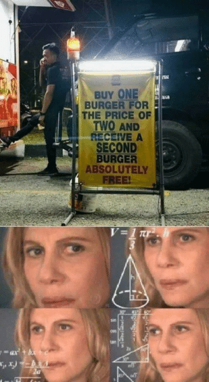 Invest now for McProfits! via /r/MemeEconomy https://ift.tt/31JpSEE: BUY ONE  BURGER FOR  THE PRICE OF  TWO AND  RECEIVE A  SECOND  BURGER  ABSOLUTELY  FREE!  V=1 Tr  sin  tan Invest now for McProfits! via /r/MemeEconomy https://ift.tt/31JpSEE