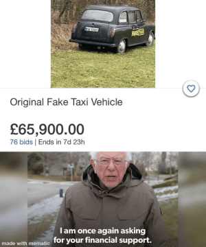 Buy this meme so I can buy the fake taxi: Buy this meme so I can buy the fake taxi