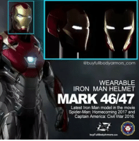 Helmet armor is now in the FOLLOW & SHARE lottery! Check @buyfullbodyarmors_com post for the rule!🤠🤠🤠. . the Wearable Iron Man Mark 47 😎😎 from the movie Spider-Man: Homecoming. . @buyfullbodyarmors_com are building this 💥 latest 💥model of the Iron Man armor. As usual, the quality of @buyfullbodyarmors_com armor costumes will be screen-accurate and ultra-realistic. . IronManMark47 ironmanmark48 IronManMark46 IronMan ironmancosplay ironmansuit ironmanarmor ironmancostume realironman avengersinfinitywar spidermanhomecoming CaptainAmerica tonystark avengersinfinitywar WinterSoldier WarMachine Falcon BlackPanther AntMan GuardiansoftheGalaxy2 GhostintheShell AlienCovenant WonderWoman HaloWars2 Batman Superman cosplay costume ComicCon2017 eventplanning: @buyfullbodyarmors com  WEARABLE  IRON MAN HELMET  MARK 46/47  Latest Iron Man model in the movie  Spider-Man: Homecoming 2017 and  Captain America: Civil War 2016. Helmet armor is now in the FOLLOW & SHARE lottery! Check @buyfullbodyarmors_com post for the rule!🤠🤠🤠. . the Wearable Iron Man Mark 47 😎😎 from the movie Spider-Man: Homecoming. . @buyfullbodyarmors_com are building this 💥 latest 💥model of the Iron Man armor. As usual, the quality of @buyfullbodyarmors_com armor costumes will be screen-accurate and ultra-realistic. . IronManMark47 ironmanmark48 IronManMark46 IronMan ironmancosplay ironmansuit ironmanarmor ironmancostume realironman avengersinfinitywar spidermanhomecoming CaptainAmerica tonystark avengersinfinitywar WinterSoldier WarMachine Falcon BlackPanther AntMan GuardiansoftheGalaxy2 GhostintheShell AlienCovenant WonderWoman HaloWars2 Batman Superman cosplay costume ComicCon2017 eventplanning