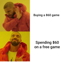 P2W: Buying a $60 game  Spending $60  on a free qame