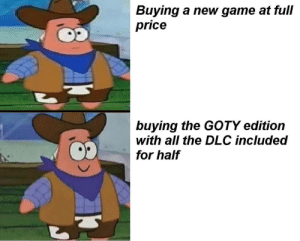 The Smart Shopper: Buying a new game at full  price  buying the GOTY edition  with all the DLC included  for half The Smart Shopper