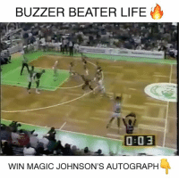 """Memes, 🤖, and Legends: BUZZER BEATER LIFE  O a 3  WIN MAGIC JOHNSON'S AUTOGRAPH HUGE giveaway right now. Win an autographed photo from NBA legend Magic Johnson! 💥 To enter to win: 1️⃣ Follow @steinersports + @bestcrosses + @breakanklesdaily ✅ 2️⃣ Comment """"S-T-A-R"""" without being interrupted! — Winner announced end of the month!"""