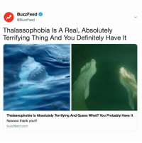 Can you make it through this article without screaming? Link in bio: BuzzFeed <  @BuzzFeed  Thalassophobia ls A Real, Absolutely  Terrifying Thing And You Definitely Have lt  Thalassophobia Is Absolutely Terrifying And Guess What? You Probably Have It  Nooooo thank you!!  buzzfeed.com Can you make it through this article without screaming? Link in bio