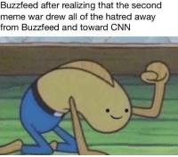 "<p>Buzzfeed meme values have been severely diluted during the war. via /r/MemeEconomy <a href=""http://ift.tt/2sGpgyr"">http://ift.tt/2sGpgyr</a></p>: Buzzfeed after realizing that the second  meme war drew all of the hatred away  from Buzzfeed and toward CNN <p>Buzzfeed meme values have been severely diluted during the war. via /r/MemeEconomy <a href=""http://ift.tt/2sGpgyr"">http://ift.tt/2sGpgyr</a></p>"