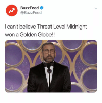 The Office, Buzzfeed, and Live: BuzzFeed  @BuzzFeed  I can't believe Threat Level Midnight  won a Golden Globe!!  LIVE On your mark, get set... DIE! - The Office, Season 7 Episode 17 goldenglobes