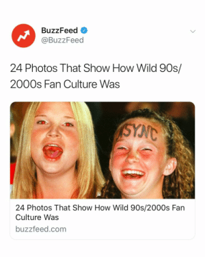 Before there were Directioners, Little Monsters, or ARMYs, there was the 00s 👀 Link in bio 🤩: BuzzFeed o  @BuzzFeed  24 Photos That Show How Wild 90s/  2000s Fan Culture Was  24 Photos That Show How Wild 90s/2000s Fan  Culture Was  buzzfeed.com Before there were Directioners, Little Monsters, or ARMYs, there was the 00s 👀 Link in bio 🤩