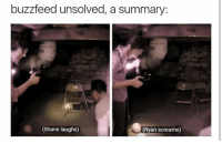 Buzzfeed Unsolved: buzzfeed unsolved, a summary  (Shane laughs)  (Ryan screams)