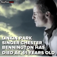 """Chance the Rapper, Memes, and News: BuzzFeeDNEWS  LINKINNJ PAR  SINGER CHESTER  BENNINGTON HAS  DIED AT 41 YEARS OLD rp @buzzfeednews - Linkin Park singer ChesterBennington has died at 41 of an apparent suicide. Since the news of his death broke, tributes and condolences have poured in from dozens of bands and musicians, including Nikki Sixx, Imagine Dragons, Rihanna and Chance the Rapper, and bandmate Mike Shinoda tweeted he was """"shocked and heartbroken."""" @pmwhiphop"""