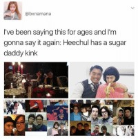 shh we all knew it was coming *Admin Kilo*: @bxnamana  I've been saying this for ages and l'm  gonna say it again: Heechul has a sugar  daddy kink shh we all knew it was coming *Admin Kilo*