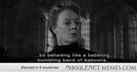 "Memes, Http, and Band: by behaving like a babbling,  bumbling band of baboons  Banned in 0 countries  MUGGLENET MEMES.COM <p>Try saying that five times fast. <a href=""http://ift.tt/GIqNM4"">http://ift.tt/GIqNM4</a></p>"