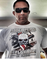 Instagram, Labor Day, and Page: BY BIRTH  1775 LABOR DAY WEEKEND SALE  15% OFF USE CODE MOLONLABE ONE OF OURS Follow @johnnapolitano gun slinging instagram page.  ORDER 👉🏻 https://bit.ly/2GmHvDS YOUR I'M A DEPLORABLE T SHIRT   — Products shown: DEPLORABLE BY CHOICE T-Shirt.