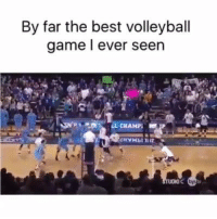 Memes, 🤖, and Champ: By far the best volleyball  game ever seen  OL CHAMP; best game by far... but is this real?