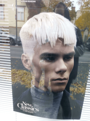 Advertisement for a bad haircut: by FOUR REASONS  New  Classics  GOLLEGTION AUTUMN 2018  by FOUR REASONS Advertisement for a bad haircut