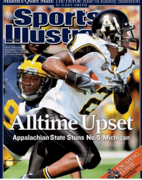 Dexter, Michigan, and Com: By GARY SMITH  www.St.com  Dexter Jackson of t  Mountaineers scores  of his two TDs in a 34  win over the Wolverines  Alltime Upset  Appalachian State Stuns No.5 Michigan  EPTEMBER #ThrowbackThursday https://t.co/bc2iMNNJEC
