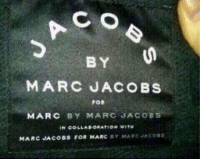 BY  MARC JACOBS  FOR  MARC  BY MARC JACOBS  IN COLLABORATION  MARC JAcoBs FOR MARC  BY MARC JAcosa When you do the entire group project on your own.