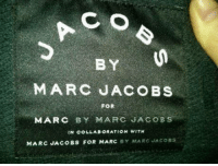 Thanks Marc Jacobs, we get it.: BY  MARC JACOBS  FOR  MARC  BY MARC JACOBS  IN COLLABORATION WITH  MARC JACOBS FOR MARC  BY MARC  SAcoss Thanks Marc Jacobs, we get it.