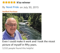 """Selfie, Selfie Stick, and Work: By Norel Pride on July 30, 2015  Verified Purchase  Even I could make it work and I took the nicest  picture of myself in fifty years.  3,532 people found this helpful <p>The Best Selfie Stick Review :) via /r/wholesomememes <a href=""""http://ift.tt/2prY8Ud"""">http://ift.tt/2prY8Ud</a></p>"""