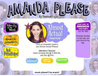 kindergarten2002:  fun fact: amandaplease.com is no longer up BUT if you type in the url it redirects you to nick.com!: By Penelope Taynt  AlmostAMANOA  Actual  Video cl  of the  THIS DAY IN  Week  HISTORY:  Oct 28 1992  MY  AMANDA  Amanda decides  to eat only eat  junk food for the  day  PHOTOS  SCRAPELOK  Click on Amanda's head to  see Almost Actual Photos  Ask  Penelope  Attention Citizens  Catch Amanda Sat9.30/8:30c,  and Sun 6/5c  WRITE  ARCHIVETO ME  MEABOUT ME  music please!/no music! kindergarten2002:  fun fact: amandaplease.com is no longer up BUT if you type in the url it redirects you to nick.com!