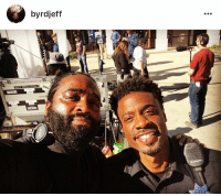 "Memes, 🤖, and Blast: by rdjeff  ll  QUIXOTE Had a Blast being Directed by @byrdjeff on the set of ""Rebel""! This brotha is Talented and Very Humble! We have a lot of Future work ahead of us! Always feels great to be leaving out your dreams!!! Can't wait for you guys to catch ""Rebel"" airing on @bet soon! It's gonna be BOMB! And follow my boy @byrdjeff He's passing out acting gigs like CRAZY! So go slide in his DMs!😂😜😎 setlife actor dream bet Rebel"