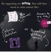 """Journey, Love, and Tumblr: By supporting our IREoN, You will have  access to extra content like:  .'.  nSwers to  CAS  '누'  OR  ersona li2e  (a  our s <p><a href=""""http://thewitchystuff.tumblr.com/post/157415970000/we-are-a-group-of-little-artists-who-are"""" class=""""tumblr_blog"""">thewitchystuff</a>:</p><blockquote> <p>We are a group of little artists who are passionate about the witchy world and love sharing our creations with all of you! We love to make our magical experiences in an artistic way and with your support we can continue to publish weekly content here and in different sites too.<br/></p> <p>In addition to supporting our <b><a href=""""https://www.patreon.com/witchystuff"""">Patreon</a> </b>you will have access to extra content exclusive to patrons like: Mini tutorials, Answers to any asks, Exclusive illustration or even personalized witchsona of yourself! and if we get enough support, we will be able to create an animated Youtube channel with the characters, where you'll get to follow our magical journey!</p> <p>PATREON:<a href=""""https://www.patreon.com/witchystuff""""><b><a href=""""https://www.patreon.com/witchystuff"""">https://www.patreon.com/witchystuff</a></b></a></p> </blockquote>"""