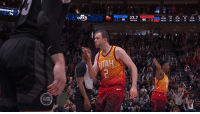 Kiss, Joe, and Pistons: by  TAH  PISTONS Joe Ingles blows a kiss to Pistons fans after sealing the win