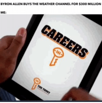 Head, Memes, and The Weather: BYRON ALLEN BUYS THE WEATHER CHANNEL FOR $300 MILLION  ME: . @RealByronAllen   Hey big head! https://t.co/srmi5H85wl