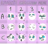 """Bored, Meme, and Target: BYUTAKİ'S EXPRESSİON MEME  1 2. 3  BLEP <p><a href=""""http://byutak.tumblr.com/post/165566732606/i-created-a-expression-meme-chart-because-i-was"""" class=""""tumblr_blog"""" target=""""_blank"""">byutak</a>:</p><blockquote> <p>I created a expression meme chart because I was REALLY bored  ¯\_(ツ)_/¯  </p> <p>Feel free to use it! ^^</p> </blockquote>"""