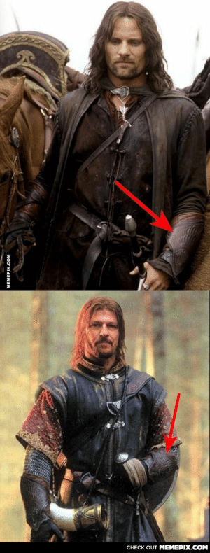 Never realized that after Boromir's death, Aragorn wears his bracers, no characters even mention it.omg-humor.tumblr.com: CНECK OUT MЕМЕРIХ.COM  МЕМЕРIХ.COм Never realized that after Boromir's death, Aragorn wears his bracers, no characters even mention it.omg-humor.tumblr.com