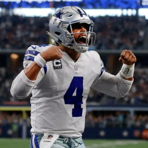 Happy 26th Birthday to @dallascowboys QB @dak! 🎉  ⭐️ 2016 Offensive Rookie of the Year ⭐️ 2x Pro Bowler ⭐️ 32 wins in three seasons https://t.co/SWi6lesuw3: C  4  wilson Happy 26th Birthday to @dallascowboys QB @dak! 🎉  ⭐️ 2016 Offensive Rookie of the Year ⭐️ 2x Pro Bowler ⭐️ 32 wins in three seasons https://t.co/SWi6lesuw3