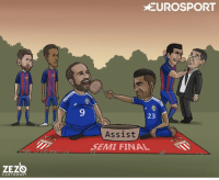 Memes, Cartoons, and Been: C A R T O O N S  EUROSPORT  23  Assist  SEMI FINAL Dani Alves has been laying on a feast for Gonzalo Higuain this season Credits : @ZEZO_CARTOONS https://t.co/znYvM3298S