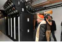 Tumblr, Asparagus, and Blog: c-bassmeow:  emospritelet: faster-than-asparagus-is-cooked:  polishpriests:  Polish cardinal blessing a supercomputer cluster. 2013.  Reblog to protect yourself and your computer from porn bots  Man, do I need this!   I thought this said polish cannibal and I was very nervous for a second  but also thrilled   Maybe a little turned on