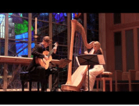 Chicago, Tumblr, and Blog: c-bassmeow:  I have found my new favorite thing: harp and guitar duets. Chicago based group Strung Up duo cover Phillip Glass in this absolutely stunning performance. I've had this on repeat for a while.