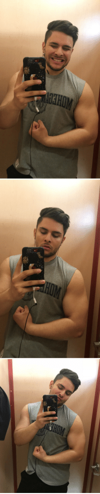 Gym, Lol, and Tumblr: c-bassmeow:  I went to the gym maybe four times this month to lift weights and I've already noticed a difference, or I'm delusional. Either way my arms are bigger lol