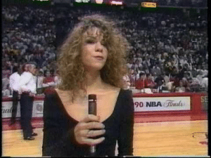 "c-bassmeow: Imagine being in the 90′s at this game and not knowing who this curly haired, ethnically ambiguous girl is. and then she comes out of nowhere and murders this song and makes you wish you were never born because you aren't even 1/987 as talented.    Like THIS is talent. One of Mariah's first performances. And to think she had AWFUL stage fright….. wow     ""the palace now has its queen""  : c-bassmeow: Imagine being in the 90′s at this game and not knowing who this curly haired, ethnically ambiguous girl is. and then she comes out of nowhere and murders this song and makes you wish you were never born because you aren't even 1/987 as talented.    Like THIS is talent. One of Mariah's first performances. And to think she had AWFUL stage fright….. wow     ""the palace now has its queen"""