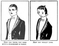 "Meme, Taken, and Tumblr: C.  How ou THINK YOU LOoK  WHEN A FLASHLIGHT IS TAKEN  How you rEALLY LOOK <p><a href=""http://yesterdays-print.com/post/172940740044/judge-magazine-1921"" class=""tumblr_blog"">yesterdaysprint</a>:</p> <blockquote><p>Judge magazine, 1921</p></blockquote>  <p>Is this for real? An ancient meme?</p>"