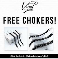 C l o t h i n g  FREE CHOKERS!  Click the link in @viralclothingco's bio! FREE CHOKERS! That's right! @viralclothingco is giving out FREE Chokers to everyone! So don't sleep and get yours while you still can! This is a deal you won't find anywhere else guaranteed! Click the link in @viralclothingco 's bio! Absolutely no BS, no hidden fees, 100% legit. Just pay the normal shipping price. (Limit of three (3) pairs per person.) TAG your friends because this deal will not last!