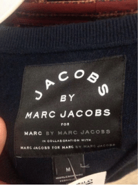 This is getting out of hand: C O  BY  MARC JACOBS  FOR  MARC BY MARC JACOBS  IN COLLABORATION WITH  MARC JACOBS FOR MARC  BY MARC JAco  CACH MIRE  FABRIQUt This is getting out of hand