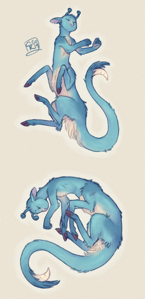 "Target, Tumblr, and Weird: c-rowlesdraws: my headcanon: the culturally ""proper"" ways for an Andalite to sleep are standing up or sitting down, but their spines are very flexible, and an Andalite who feels very safe and relaxed/doesn't give a fuck will sleep in all kinds of weird, bendy, catlike poses. here's Ax taking some naps. Shh. let this boy rest."